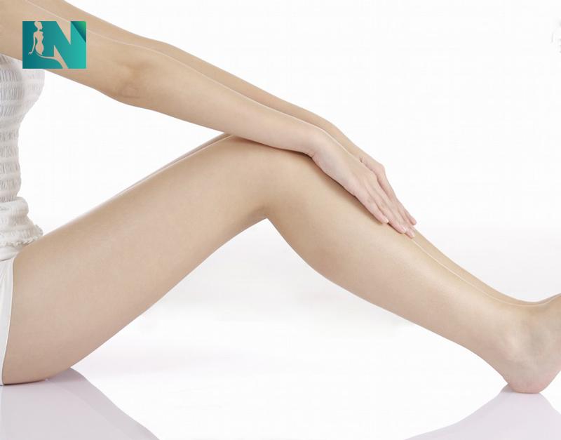 Vùng bắp chân sau khi cấy mỡ tự thân đầy đặn, săn chắc